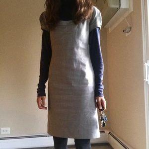 Tory Burch sz 0 short sleeve gray wool dress